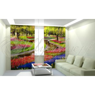 Фотошторы Сад в цветах фото