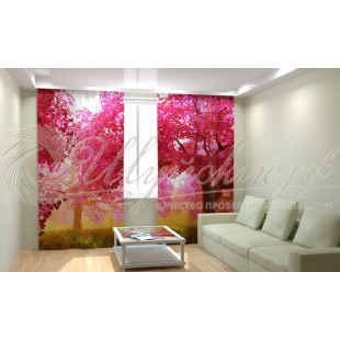 Фотошторы Розовый сад фото