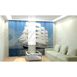 Фотошторы Белый корабль фото