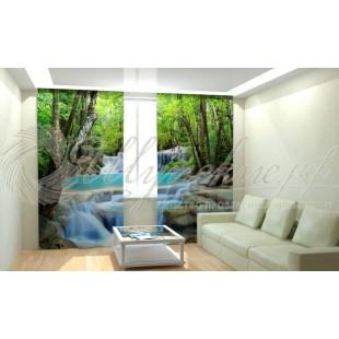 Фотошторы Лесной водопад фото