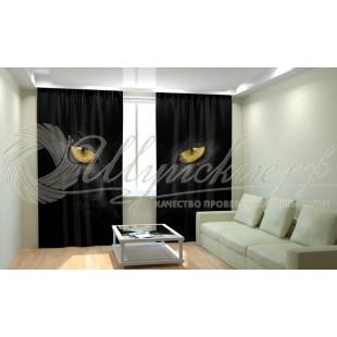 Фотошторы Черный кот фото