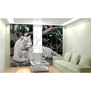 Фотошторы Белый тигр фото