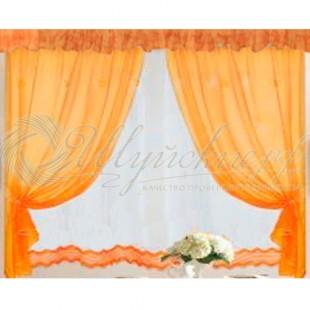 Комплект Лидия (шторы, тюль, ламбрекен) фото